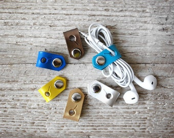 Leather Cord Organizers Travel Gift Tech Accessories, Cord Wrap Cable Cord Keepers, Great Stocking Stuffers, Giveaways, Tech Gifts