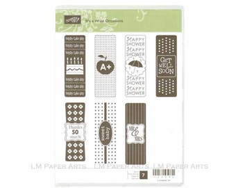 Stampin Up! It's A Wrap Occasions CLEAR - mount Stamp Set Brand New