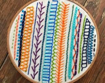 Modern Embroidery Sampler 6''