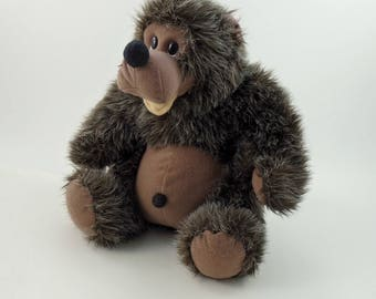 Vintage 80s Teddy Bear Plush Carousel by Guy, Stuffed Teddy Bear, Stuffed Bear, Bear Lovers Gift, Soft Bear, Cute Bear, Fuzzy Bear
