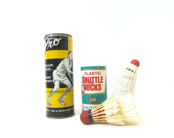 Badminton Plastic & Feather Shuttlecocks and Tennis Advertising Cans Sports Sporting Den Decor Athletic photo prop