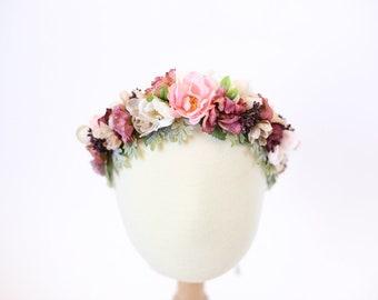 flower crown, flower crown headband, floral crown baby, floral crown toddler, flower crown baby, flower crown toddler, baby flower headband