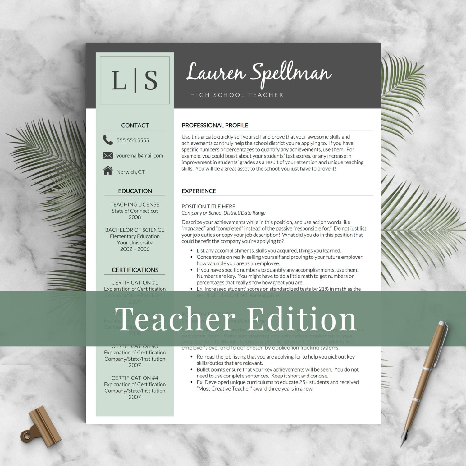 resume Can You Use The Word I In A Resume educator resume template for word and pages principal