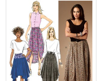 Butterick B5991 Size 16-26 Misses Skirts with Shaped Hem Sewing Pattern / Uncut FF