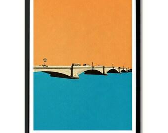 Putney Bridge, London Wall Art Print