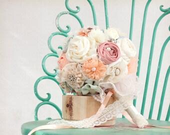 english garden wedding peach wedding bouquet, bridal bouquet, mint bouquet, spring wedding bouquet