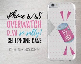 Overwatch D.Va So Salty iPhone Case 5/6/7/8/X PLUS+