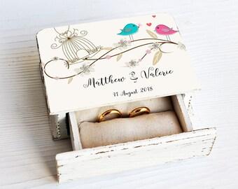 Rustic Wedding Ring Box, Rustic Treasure Chest Ring Box, Ring Pillow, Ring Bearer Wedding Ring Box, Wooden Ring Box, Rustic weeding