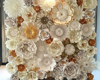 Paper flower wall for sale ukrandiffusion items similar to paper flower backdrop home decor flower wall mightylinksfo