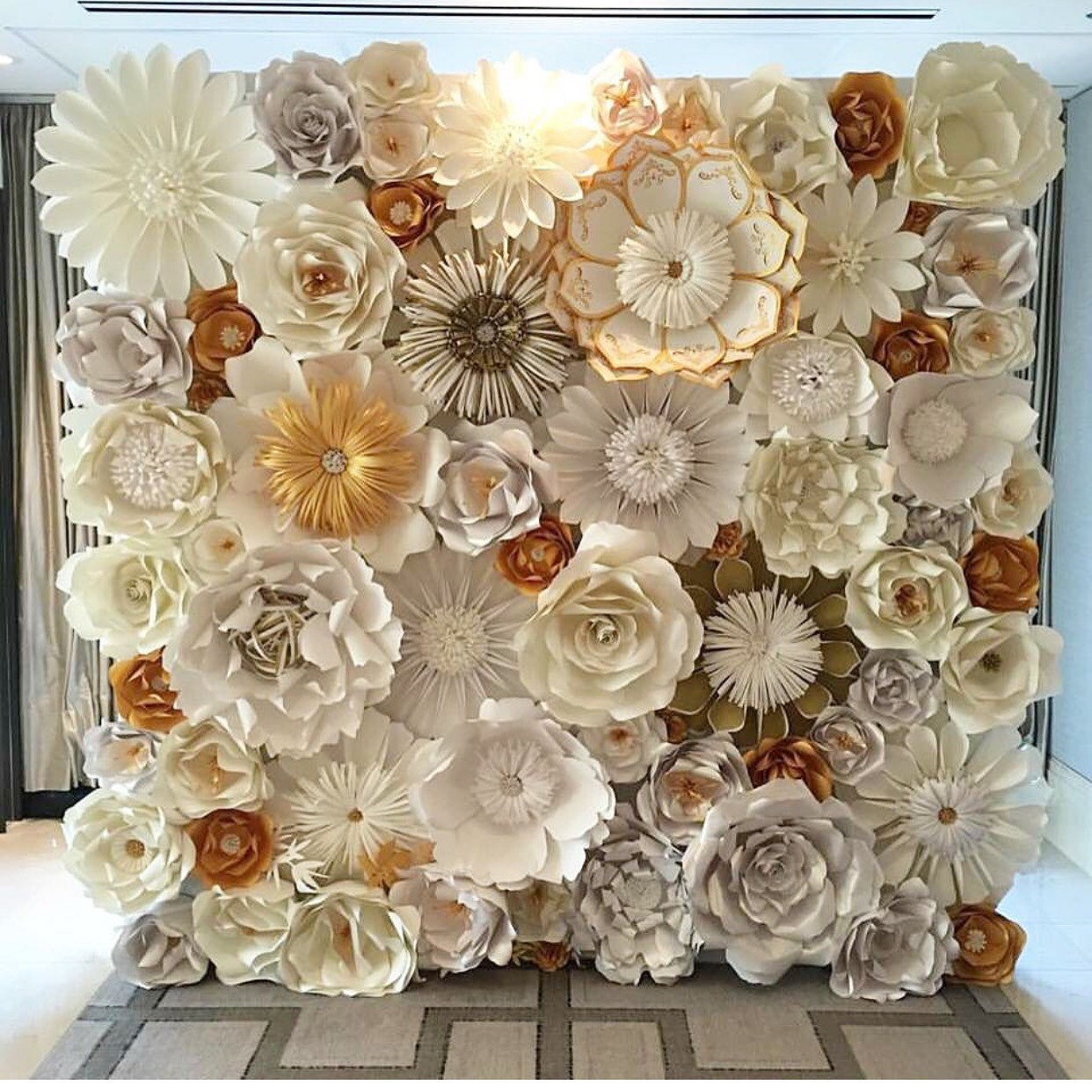 Flower paper wall geccetackletarts flower paper wall mightylinksfo