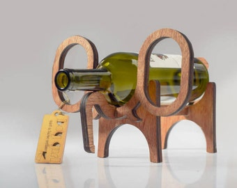 Wine Rack Wooden Elephant Wine bottle holder | by BoyGirl @ KIONDO LIMITED