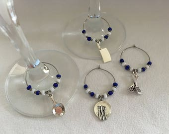 Cooking Themed Wineglass Charms