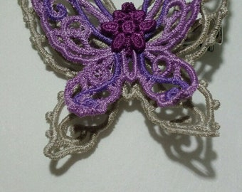 Embroidered Lace Butterfly Clip