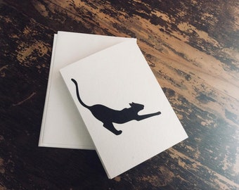 Set of 5 Cat Fortune Cards