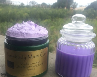 Body Butter & 10 oz Soy Candle Combo