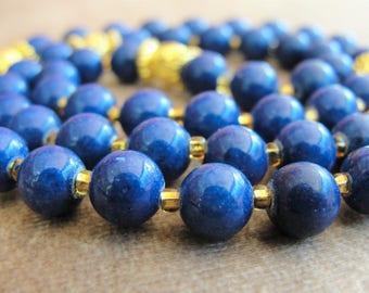 Catholic Rosary,Lapis Lazuli Rosary,Mens Rosary,Rosary Beads,Catholic Gift,Rosary,Mans Rosary,Womens Rosary,Gemstone Rosary,Gold Rosary