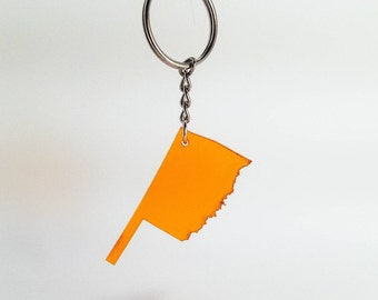 Oklahoma Acrylic Key Chain-- Customizable!