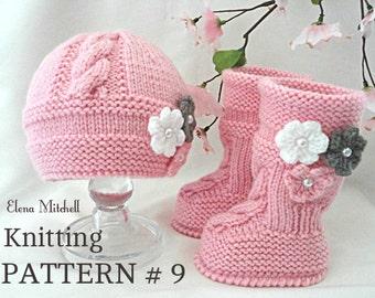 Knitting PATTERN Baby Set Babies Newborn Infant Baby Shoes Baby Hat Baby Booties Baby Beanie Baby Ugg Kids Pattern Children Knit Pattern PDF