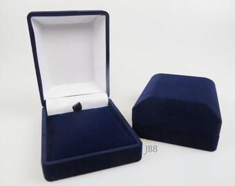 Ring Box Upgrade Blue Velvet Jewelry Box Engagement Anniversary