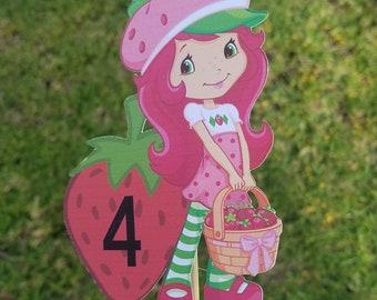 Strawberry shortcake party decorations, strawberry shortcake party centerpiece, strawberry shortcake birthday