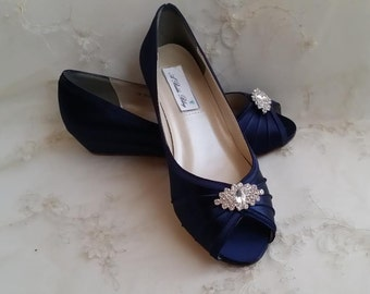 More Colors. Navy Wedding Shoes Navy Blue ...