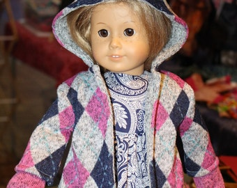 18 inch doll coat, doll coat, fleece coat for dolls, 18 inch doll coat, doll jacket, doll clothes, doll coats, baby doll coat,