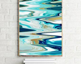 geode art, agate art, agate slice, agate slice art, mineral art, abstract agate, contemporary art, modern art, blue, gold, home decor