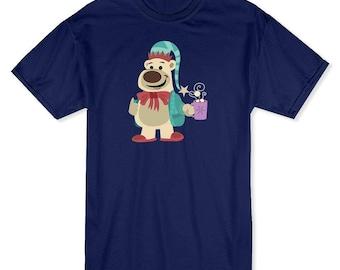 Christmas Thumb Up Polar Bear With Hot Chocolate  Men's Navy T-shirt