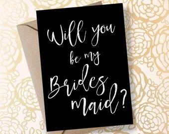 Will You Be My Bridesmaid Printable Bridesmaid Invitation Printable Bridesmaid Proposal Printable Proposal Card Cute Bridesmaid Gifts