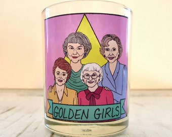 Golden Girls Glass Votive Candle // LGBTQ Altar Candle