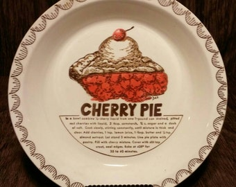 Carlton Glass Cherry Pie plate, free shipping