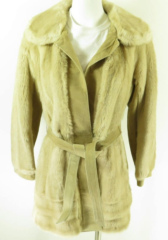 Ann Faux 60s 2 H77A Leathers England Lilli Made Puffy M Coat Fur Vintage London 3 Deadstock SEwFTT