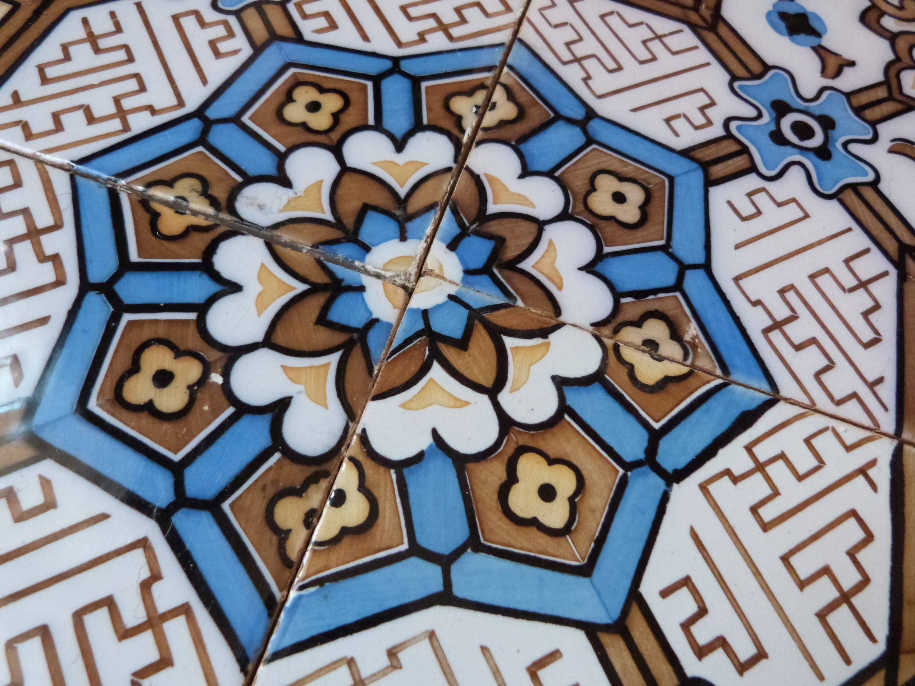Antique floor mosaic tile architecture salvaged terracotta, French ...