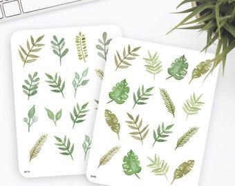 Blumen Aufkleber | Dekorative Sticker | Aquarell-Aufkleber | Sticker | Kugel-Journal-Aufkleber