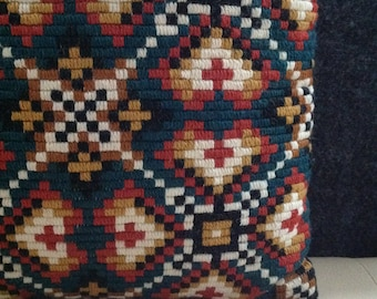70s Geometric Pillow Eclectic Home Decore Interior Design Ethnic Cushion Tribal