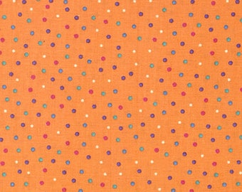Fabri-Quilt Baby Talk Orange Multi Dots - 1002575
