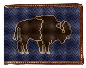 Buffalo Needlepoint Wallet Canvas