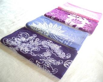 Eclectic Batik Napkins: Purples