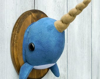 Narwhal Faux Taxidermy Home Décor