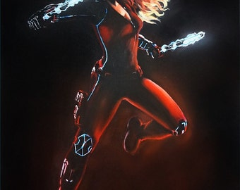 Original Marvel Black Widow Painting