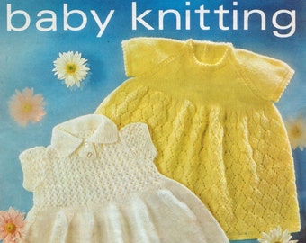 Baby 4 ply Dresses 2 styles Sizes 18 and 20 ins - Lister 1735 - Vintage Knitting Patterns pdf of  Instant Download
