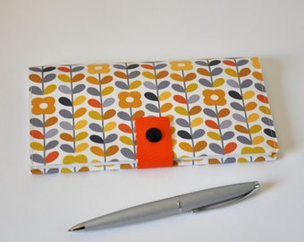faux vintage checkbook cover