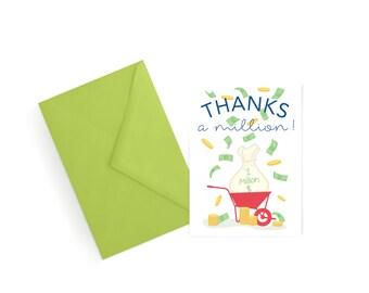 Thanks a Million Pun Card