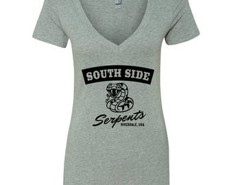 """Riverdale TV Show """"Southside Serpents"""" V-Neck Shirt"""