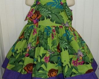 Dora the Explorer Boutique Dress Size 2T 3T 4T 5 6 NEW