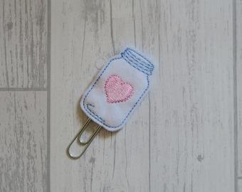 Mason Jar of Love Planner Clip, Mason Jar of Hearts Paper Clip
