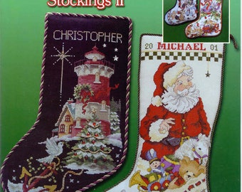 Best of Stoney Creek Stockings I and II ~  Cross Stitch Books ~  Stoney Creek ~ Christmas patterns