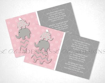 Stacked Elephants Book Request - Pink - DIY Printable - INSTANT DOWNLOAD
