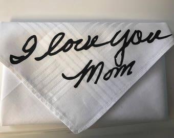 Personalized Handwriting Handkerchief