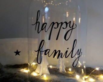 Bell glass Happy family